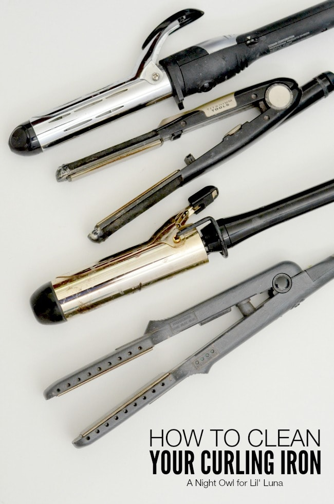 How to Clean Your Curling Iron - SO need to do this! { lilluna.com } Great tips!